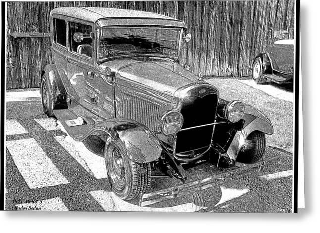 1927 Model T Ford Sedan Greeting Card by Glenn McCarthy Art and Photography