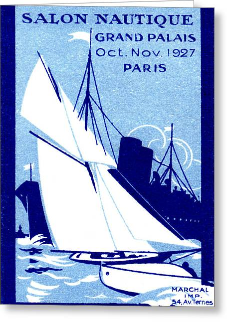 1927 Paris Boat Show Greeting Card by Historic Image