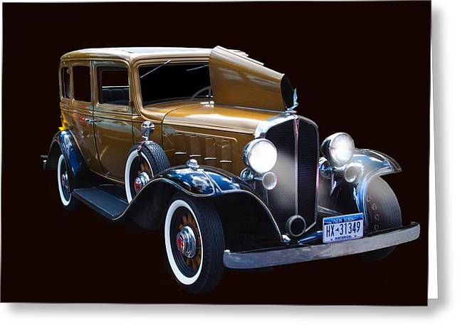1927 Pontiac Landau Sedan Greeting Card