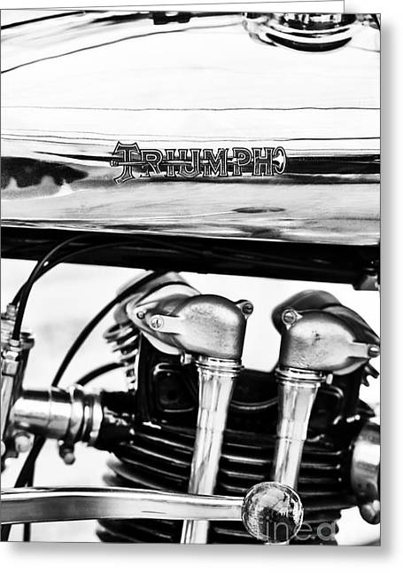 1927 Triumph Tt Racer Motorcycle  Greeting Card by Tim Gainey
