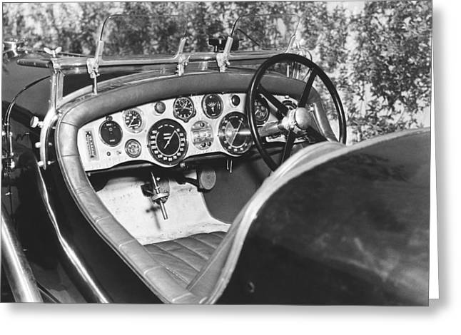 1928 Bentley Dashboard Greeting Card by Underwood Archives
