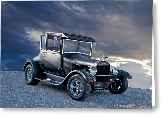 1928 Ford 'tall T' Coupe Greeting Card by Dave Koontz