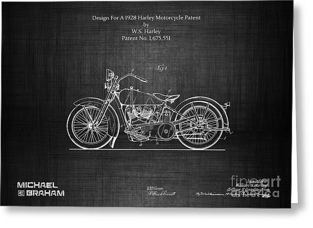 Blueprint car greeting cards page 11 of 18 fine art america original 1928 harley motorcycle patent greeting card malvernweather Choice Image