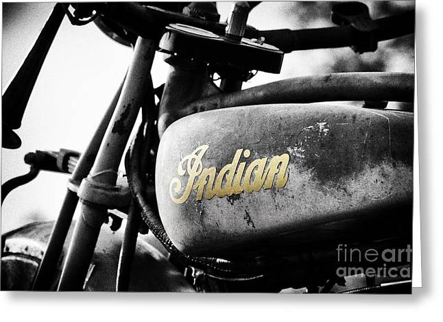1928 Indian 101 Scout Greeting Card