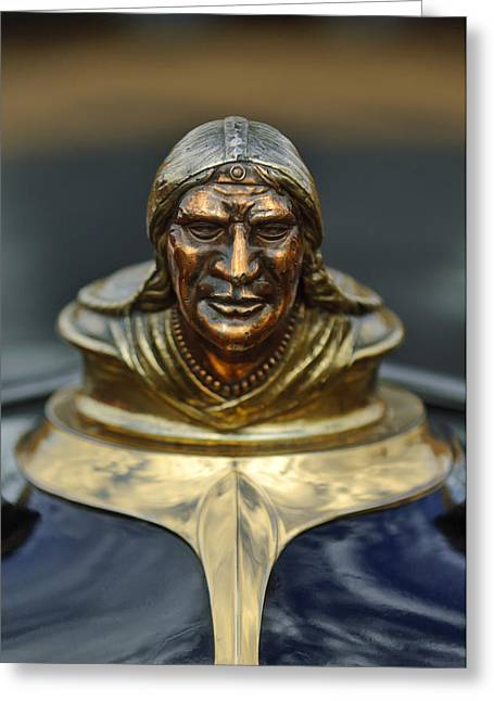 1928 Pontiac Hood Ornament  Greeting Card