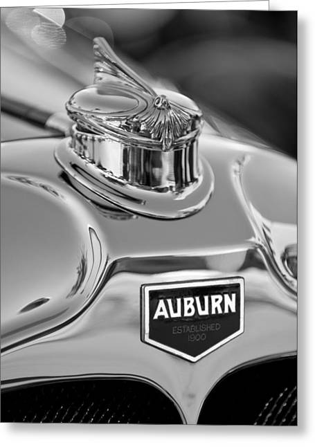 1929 Auburn 8-90 Speedster Hood Ornament 2 Greeting Card