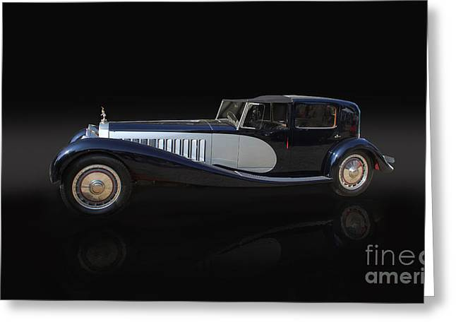 1929 Bugatti Type 41 Royale Greeting Card by Roger Lighterness