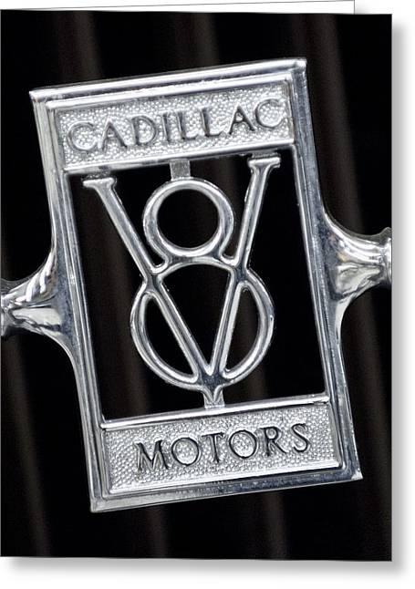 1929 Cadillac Dual-cowl Phaeton Emblem Greeting Card by Jill Reger