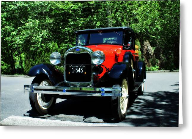 1929 Ford Greeting Card by John Winner