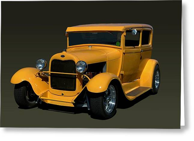 1929 Ford Model A Sedan Hot Rod Greeting Card by Tim McCullough