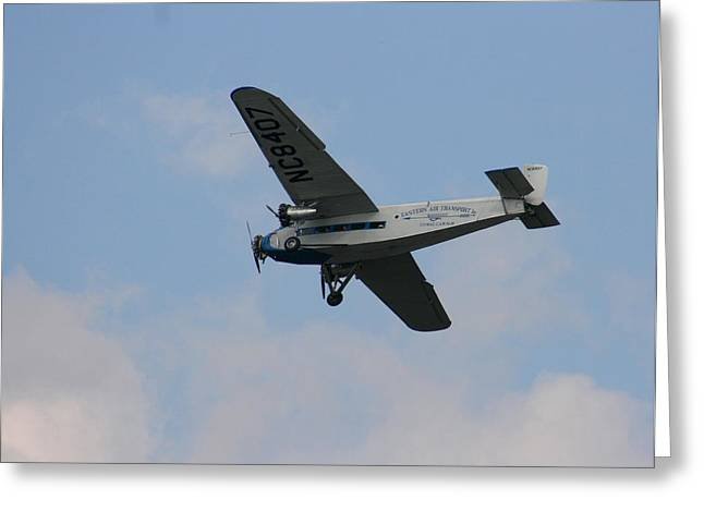 1929 Ford Tri Motor Mail Plane Side Greeting Card