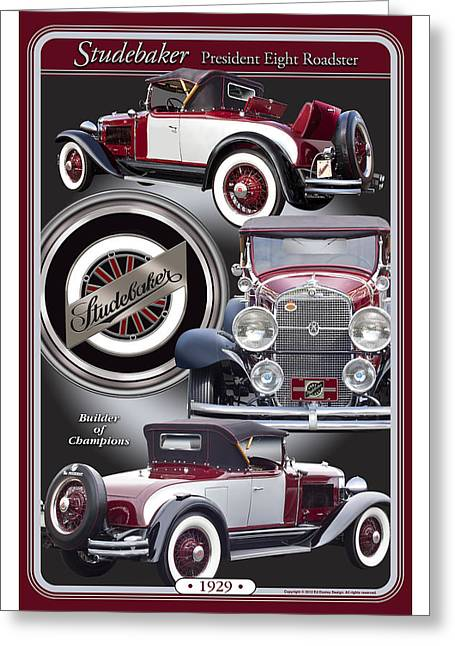 1929 Studebaker President Greeting Card