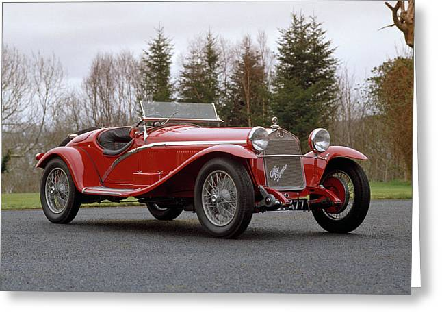 1930 Alfa Romeo Supercharged Tipo Greeting Card by Panoramic Images