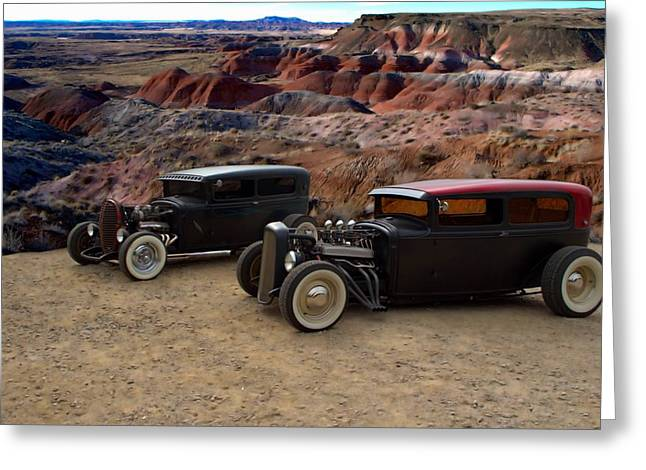 1930 And 1931 Ford Sedan Rat Rods Greeting Card by Tim McCullough