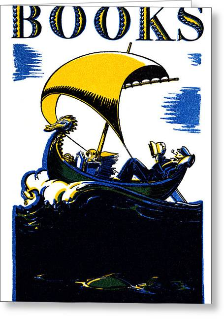 1930 Books Poster Greeting Card