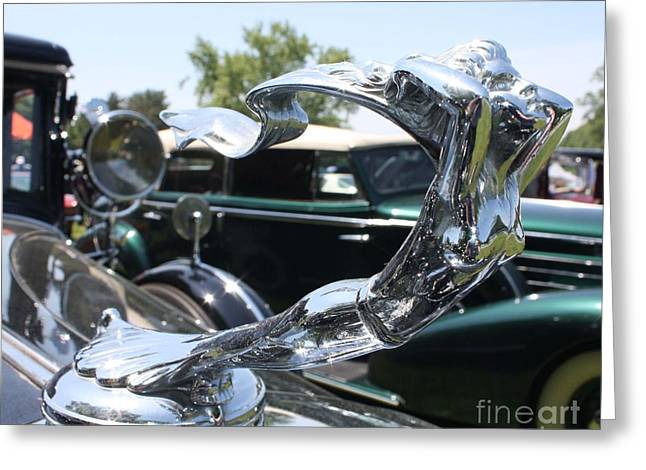 1930 Cadillac V-16 Imperial Limousine Hood Ornament Greeting Card