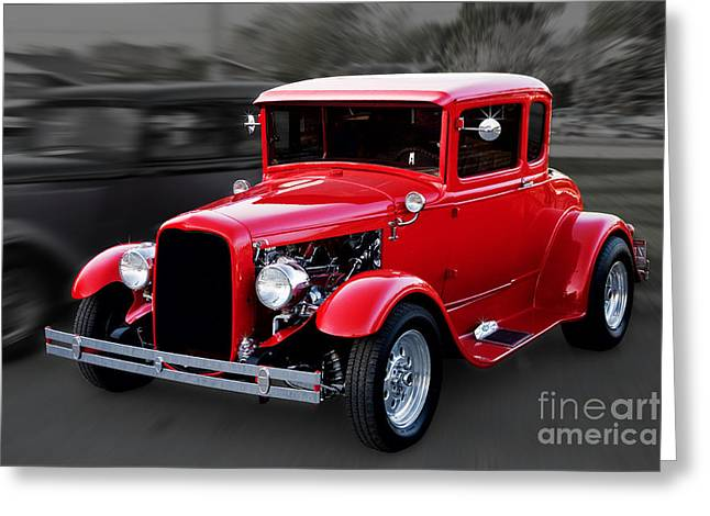 1930 Ford Model A Coupe Greeting Card by Gene Healy