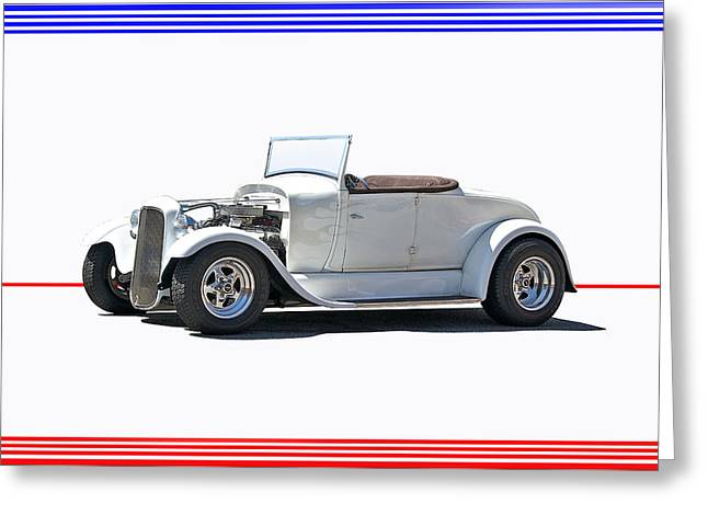 1930 Ford Model A Roadster I Greeting Card by Dave Koontz