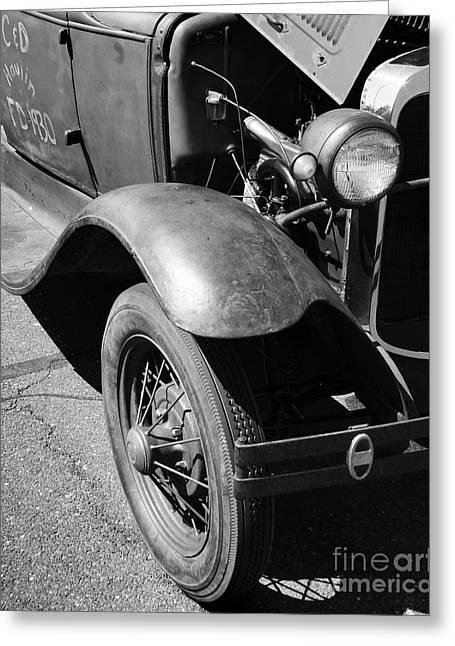 1930 Ford Model A Tudor Sedan Greeting Card