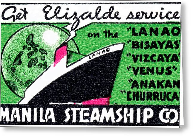1930 Manila Steamship Company Greeting Card by Historic Image