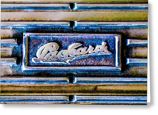 1930 Packard Deluxe Eight 745 Dual Cowl Sport Phaeton Emblem Greeting Card by Jill Reger