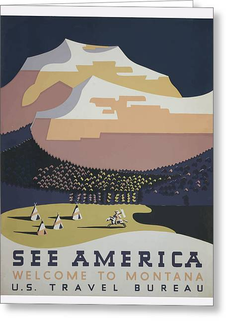 1930 See America Greeting Card by American Classic Art