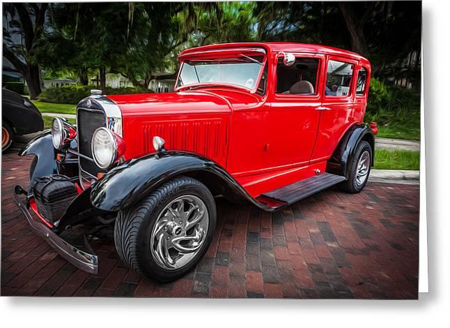 1930 Studebaker Sedan Painted   Greeting Card by Rich Franco