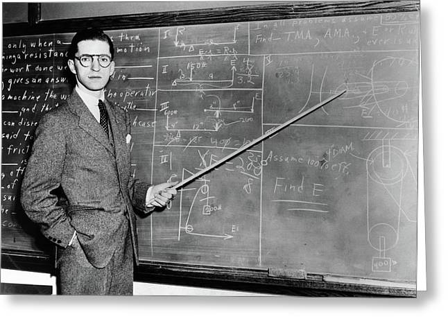 1930s 1940s Man Teacher Professor Greeting Card