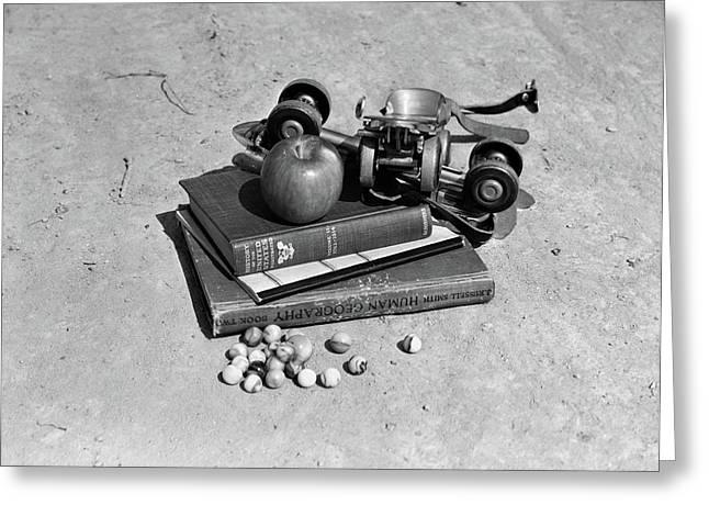 1930s 1940s Still Life Of Apple & Pair Greeting Card