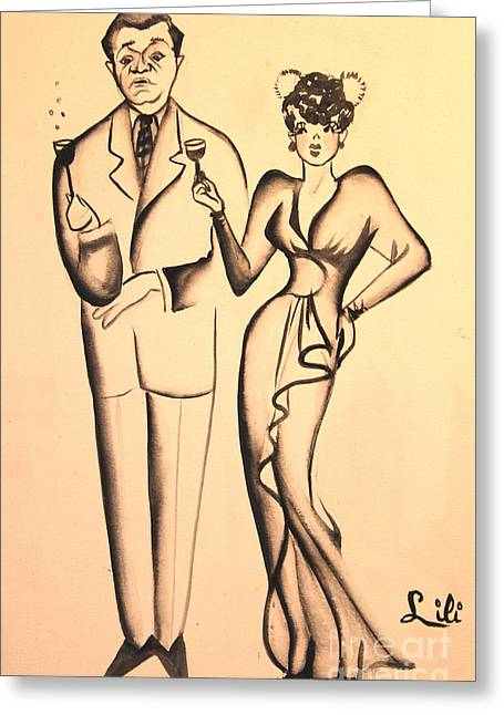 1930s Couple On The Town Greeting Card