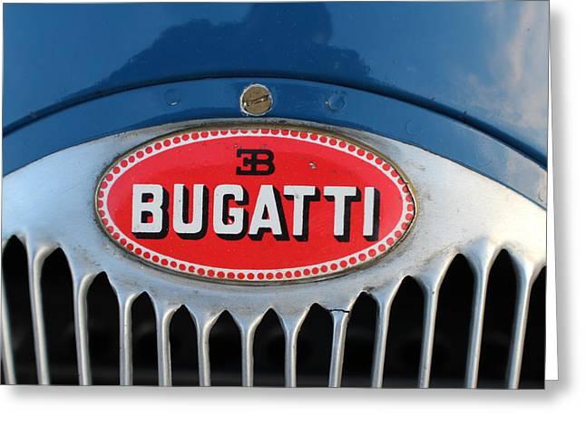 1930's Ettore Bugatti Greeting Card by Robert Phelan