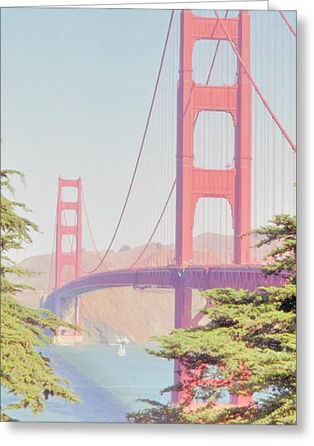 Greeting Card featuring the photograph 1930s Golden Gate by Nigel Fletcher-Jones