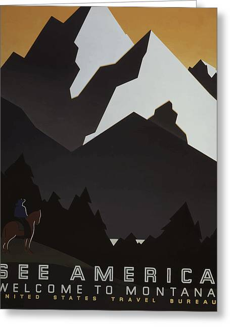 1930's See America Greeting Card by American Classic Art