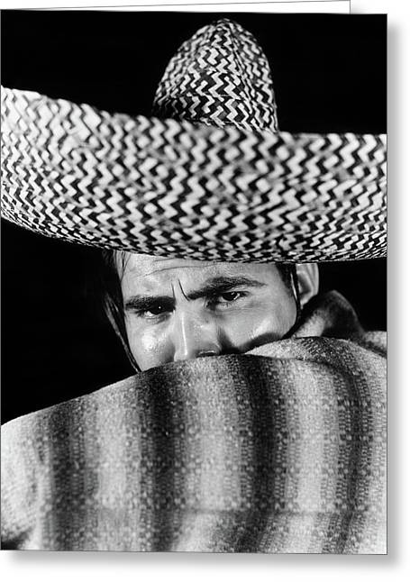 1930s Stereotype Portrait Mexican Man Greeting Card