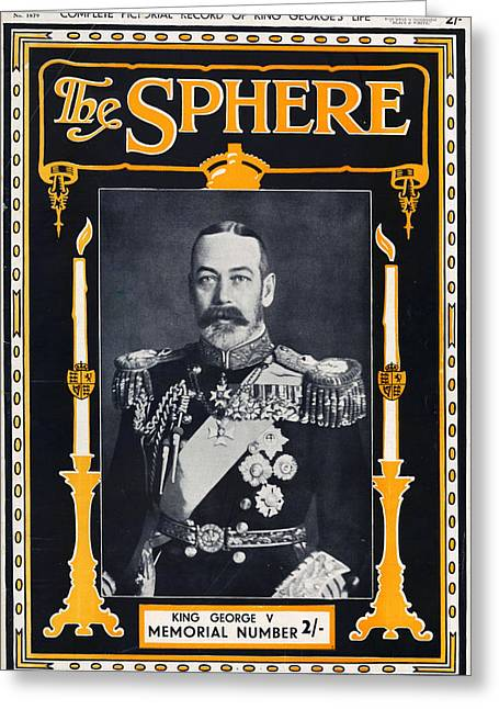 1930s Uk The Sphere Magazine Cover Greeting Card