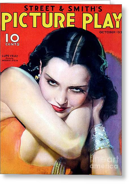 1930s Usa Picture Play Magazine Cover Greeting Card by The Advertising Archives