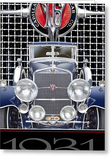 Greeting Card featuring the photograph 1931 Cadillac V-16 Phaeton by Ed Dooley