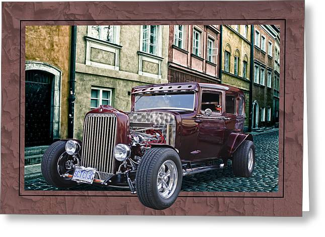 Greeting Card featuring the digital art 1931 Chev by Richard Farrington