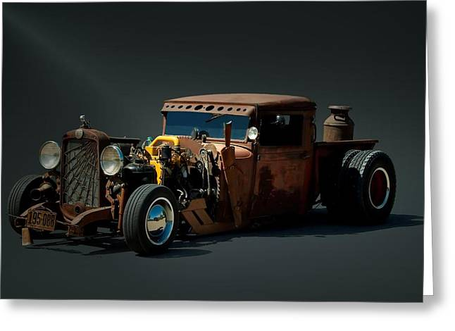 1931 Chevrolet Diesel Rat Rod Pickup Truck Greeting Card by Tim McCullough
