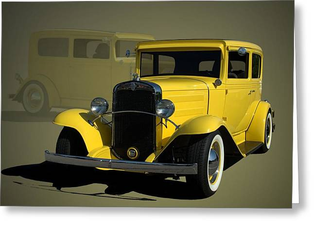 1931 Chevrolet Sedan Hot Rod Greeting Card