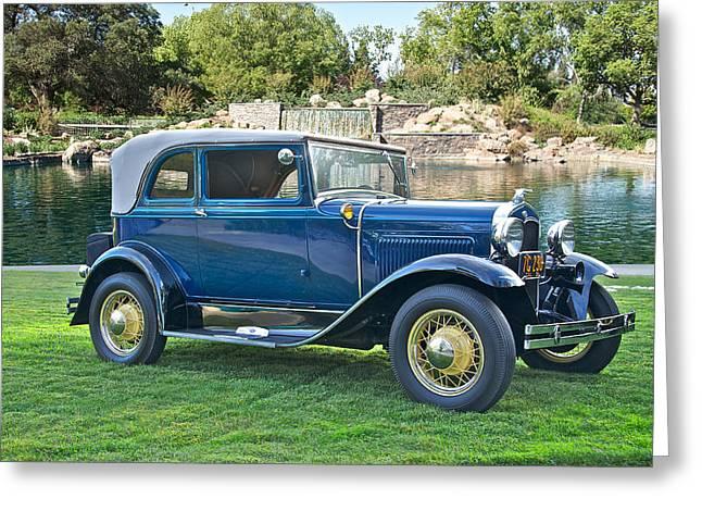 1931 Ford Model A 400 Convertible Sedan IIi Greeting Card by Dave Koontz