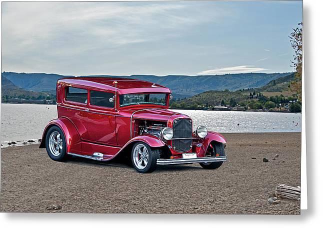 1931 Ford Model A Sedan Greeting Card by Dave Koontz