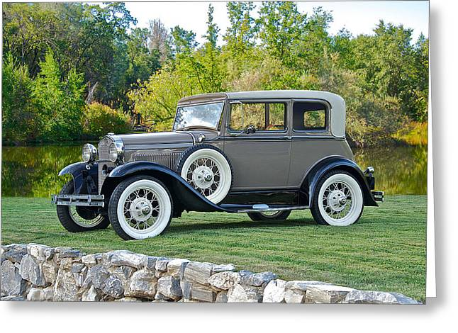 1931 Ford Model A Victoria IIi Greeting Card by Dave Koontz