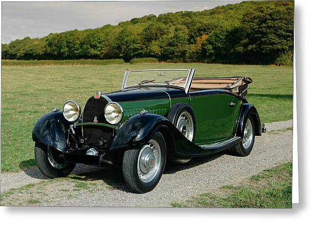 1932 Bugatti Type 49 3.2 Drophead Greeting Card by Panoramic Images