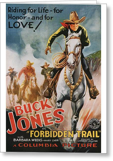 1932 Forbidden Trail 1932 Movie Art Greeting Card