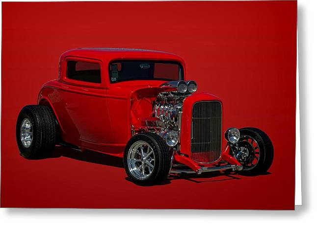 1932 Ford 3 Window Hot Rod Greeting Card by Tim McCullough