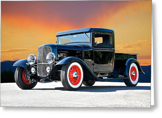 1932 Ford Pick Up II Greeting Card by Dave Koontz