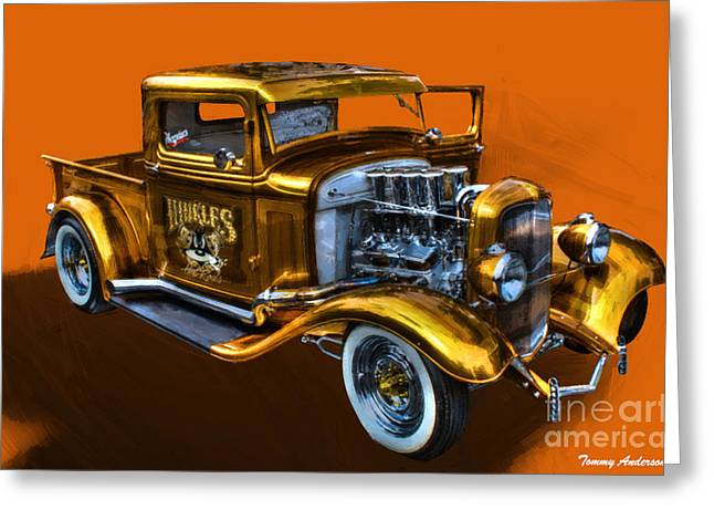 1932 Ford Truck Street Road Greeting Card by Tommy Anderson