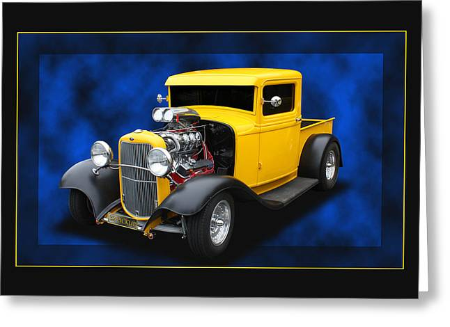 Greeting Card featuring the photograph 1932 Pickup by Keith Hawley
