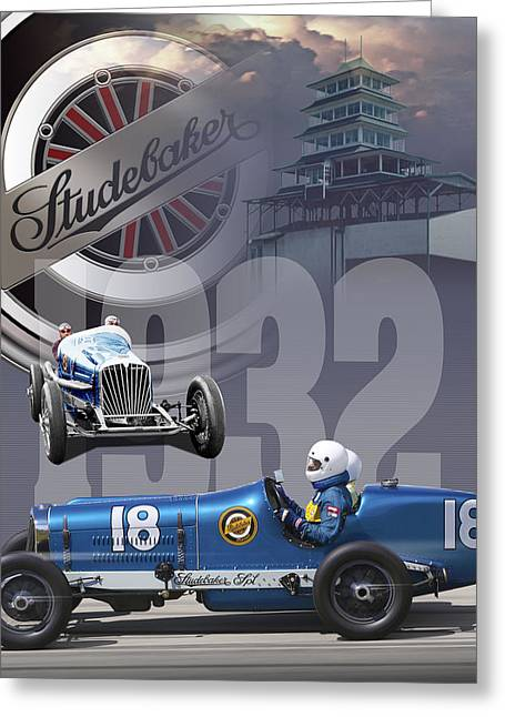 1932 Studebaker Indy Greeting Card